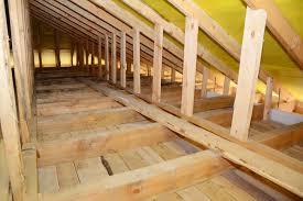 dachboden fußbodenaufbau auf der holzbalkendecke