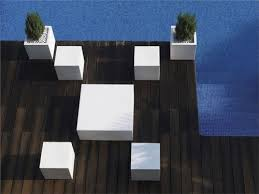 Top View Of Simple And Modern Outdoor Furniture That Can Illuminated