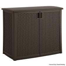 Patio Storage Bench Rubbermaid Shed Accessories Suncast Storage
