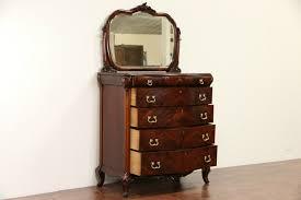 Birdseye Maple Highboy Dresser by Sold Tall Chest Or Highboy W Mirror 1920 U0027s Carved Mahogany