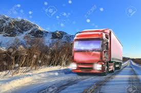 100 Truck Transport Companies A On The Wintry Road Symbolic Picture For Cargo And