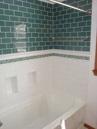 images about bathroom ideas on tub surround white subway