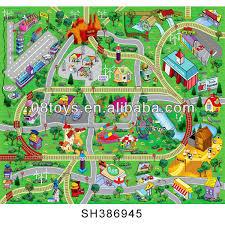 tapis de jeux voitures en plastique lavable voiture tapis de sol tapis bébé tapis de jeu