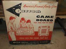 VINTAGE CARROM GAME BOARD W PIECES IN ORIGINAL BOX