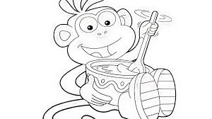 Dora Explorer Monkey Boots Eating Coloring Book Pages Videos For Kids