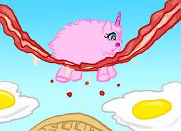 Pink Fluffy Unicorns Dancing On Bacon By LightFantasticTGC