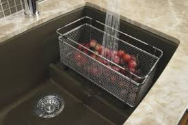 stainless steel sink grids and colanders blanco