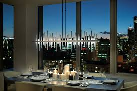 How To Light A Dining Room Cityscape LED Large Linear Pendant By Hubbardton Forge