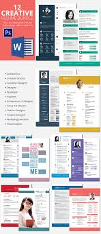 12 Resume Bundle Templates In Word And Psd Format