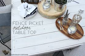 fence picket outdoor table top the wood grain cottage
