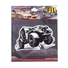 Super Cool Cartoo Toy Car Sticker Rear Window SUV Toys Vinly Film ...
