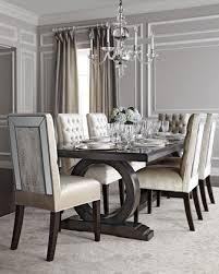 Brittney Mirrored Dining Chair Alden Trestle Table
