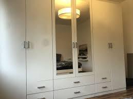 schlafzimmerschrank weiß mit spiegel und 6 schubfächer