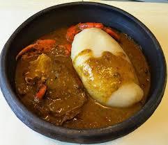 Ivorian Casava Fufu With Okra Soup