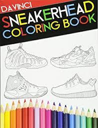 Air Jordan Coloring Book Sneaker Adult Davinci