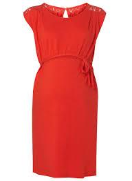 mamalicious red lace back maternity dress dorothy perkins