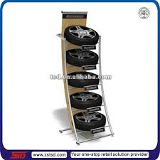 TSD M650 Custom Pos Floor Metal Tire Display Rack Tyre Stand
