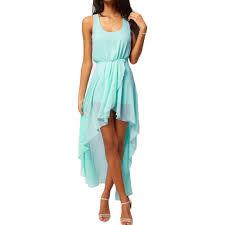 fashion women chiffon dress asymmetrical hem sleeveless tank sales