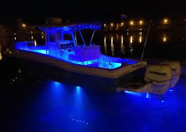 2x 2 24 blue led boat deck light waterproof bow trailer Boat Led