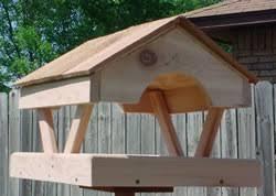 Fly Through Cedar Platform Bird Feeder