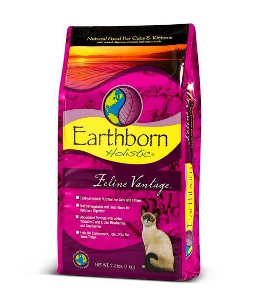 Earthborn Holistic Natural Dry Cat Food - Feline Vantage, 6lbs