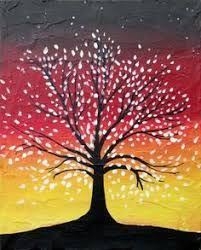 Inspiration For My Bedroom Painting Tree Of Life Silhouette On A Colorful Abstract Background Only Will Be Blues And Greens