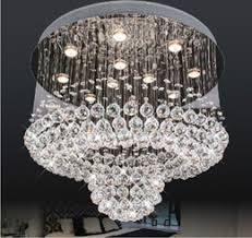 Free Shipping Promotion Sales Ceiling Modern Home K9 Crystal Decorative Chandelier Contemporary Led Pedant Light For Hotel