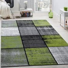 designer teppich modern kurzflor karos speziell meliert grau