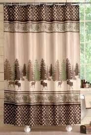 Shower Curtains Cabin Decor Woodland Cabin Moose And Deer Shower