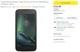 Motorola Moto G4 Play for Verizon pre paid just $35 at Best Buy