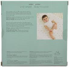 drap housse aden et anais aden anais 8600f classic crib sheet up up away elephant