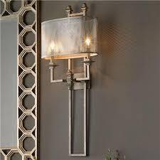 retro wall sconces and one light glass shade wrought iron bathroom