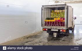 100 Truck Doors Opened Back Doors Of The Truck Loaded With Rose Flowers Loading