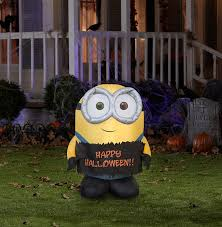Halloween Blow Up Decorations by Amazon Com Gemmy Airblown Inflatable Bob The Minion Holding Happy