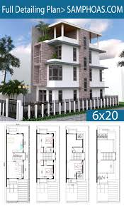 100 Narrow Lot Home House Plans 4 Bedrooms House 45 X 12 Meter Home