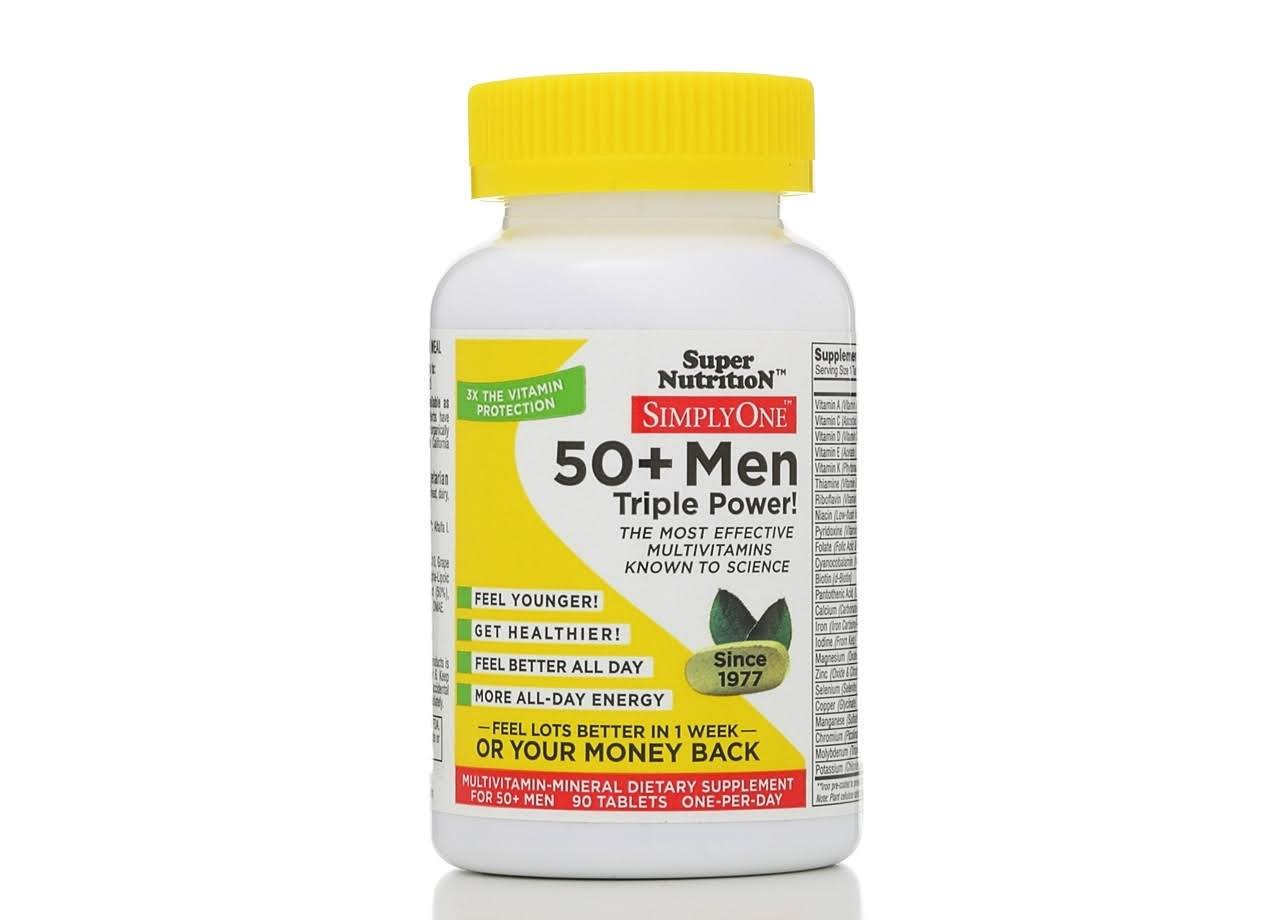 Super Nutrition Simply One 50+ Men Tablets - x90