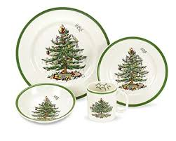 Spode Christmas Tree 4 Piece Dinnerware Place Setting Service For 1