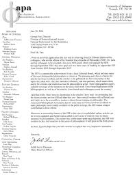 APA s Letter in Support of NEH Grant