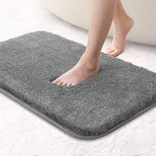 briday absorbierende dicke dusche bad matte für badezimmer maschine waschbar chenille bodenmatte grau 50 x 80 cm