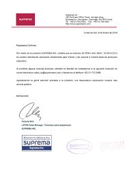 Carta De Certificacion De Suprema 2018 S3 Peru Soluciones De