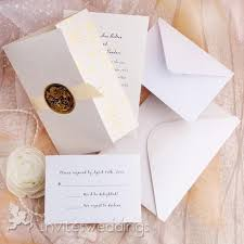 Tri Fold Golden Flowers And Ribbon Wedding Invitations IWZD05