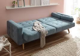 details zu sofa schlafcouch schlafsofa schlaffunktion zweisitzer blau denim 222 cm