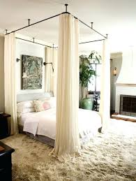 canopy bed curtains teawing co