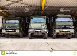 100 German Trucks Military Stands Under Military Roof Editorial