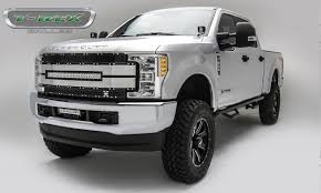 100 Grills For Trucks 20172019 Super Duty Torch AL Grille Black Mesh Brushed Trim 1 Pc Replacement Chrome Studs Incl 1 30 LED PN 6315483