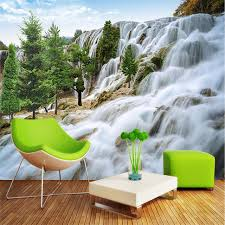 Custom Painting For Living Room Rocky Mountain Waterfall Art Photos Background Photography Bedroom Murals 3d