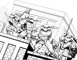 Image Of Ninja Turtles Coloring Pages Free