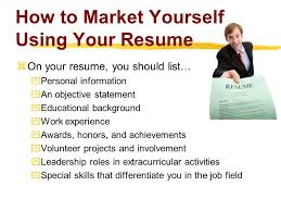 How To Market And Sell Yourself Employers With Your CV