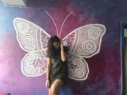 Butterfly Mural Painting Drawing Room Ideas Girl