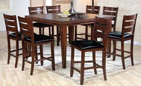 Classic Style Dining Room With Pub Square Kitchen Tables Table And Chairs Prepare 19